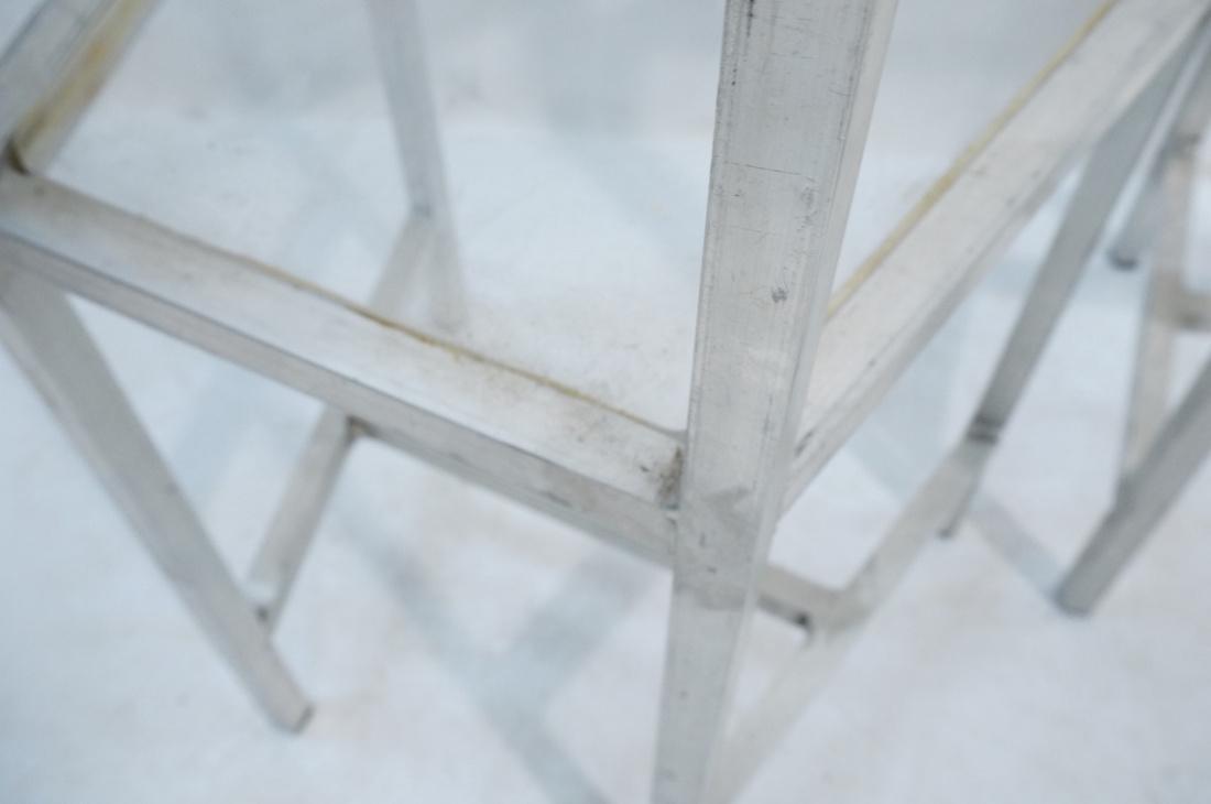 Set of 4 Aluminum Square Tube High Back Chairs. I - 9