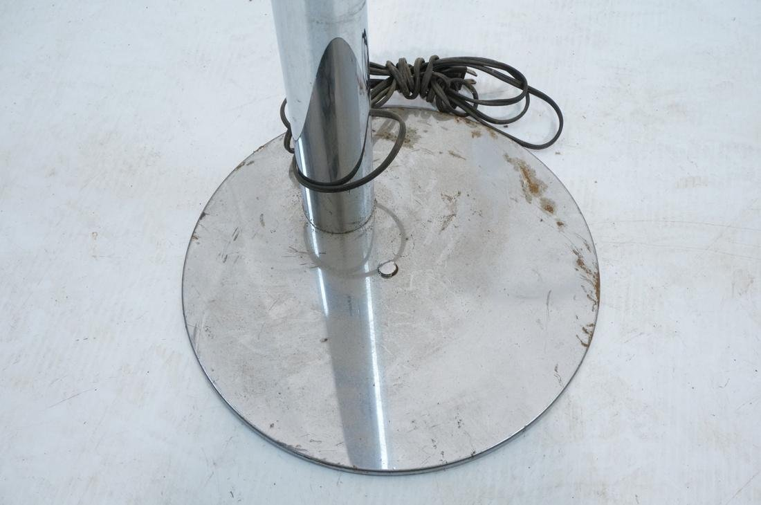 Modernist Chrome Tube Floor Lamp. Possibly Italia - 5