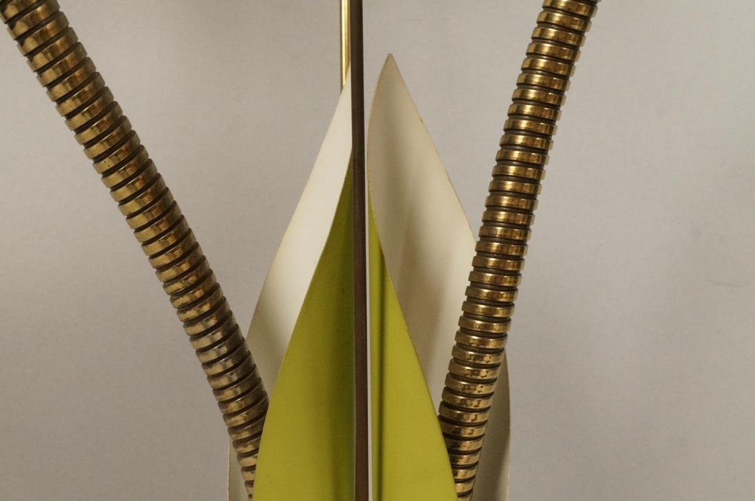 Modernist Brass Cat Tail Table Lamp. Double brass - 3
