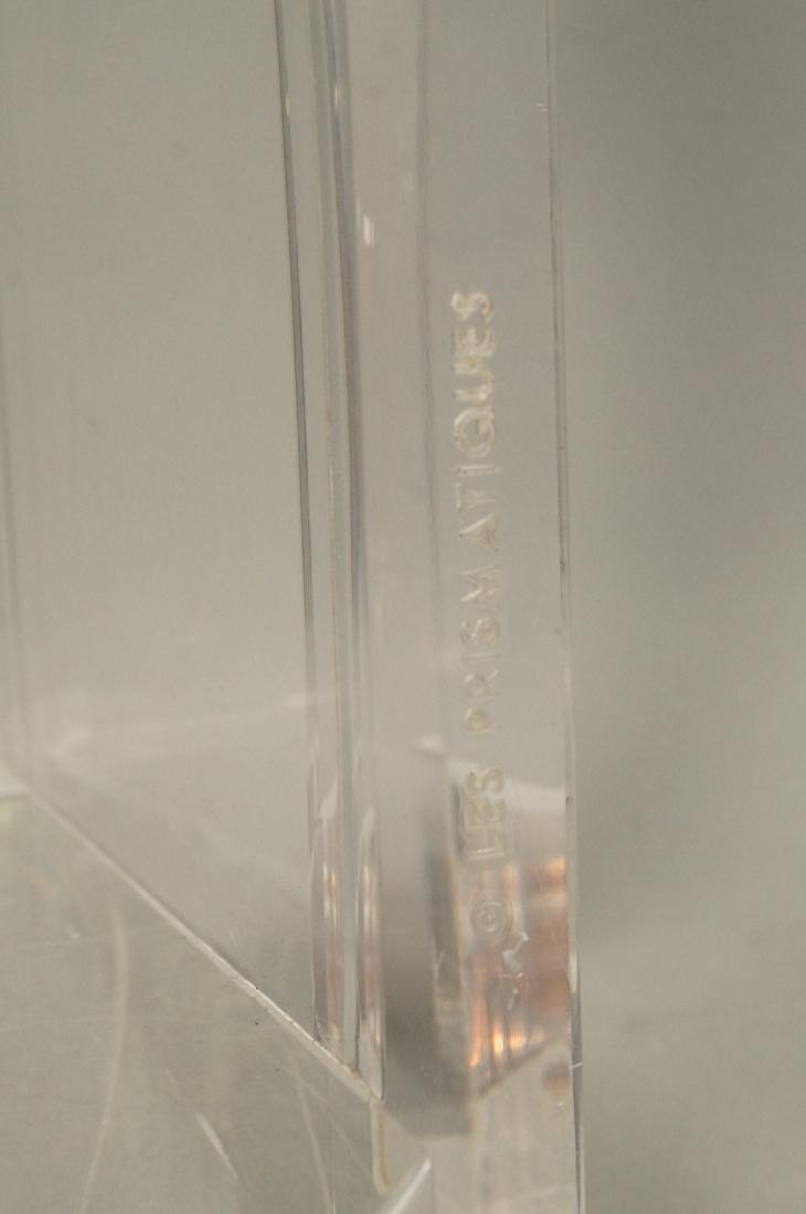 LES PRISMATIQUES Glass and Lucite Side End Table. - 5