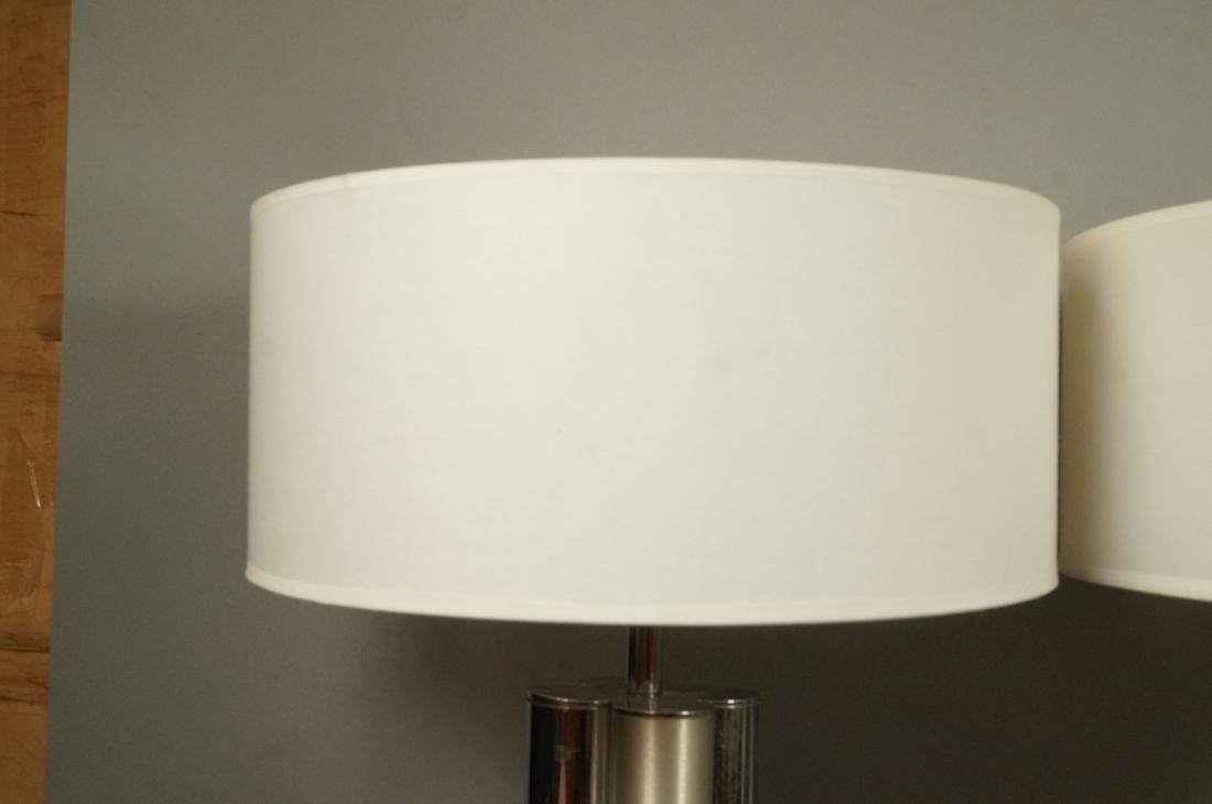 Pr MUTUAL SUNSHADE COMPANY Chrome Table Lamps. 4 - 3