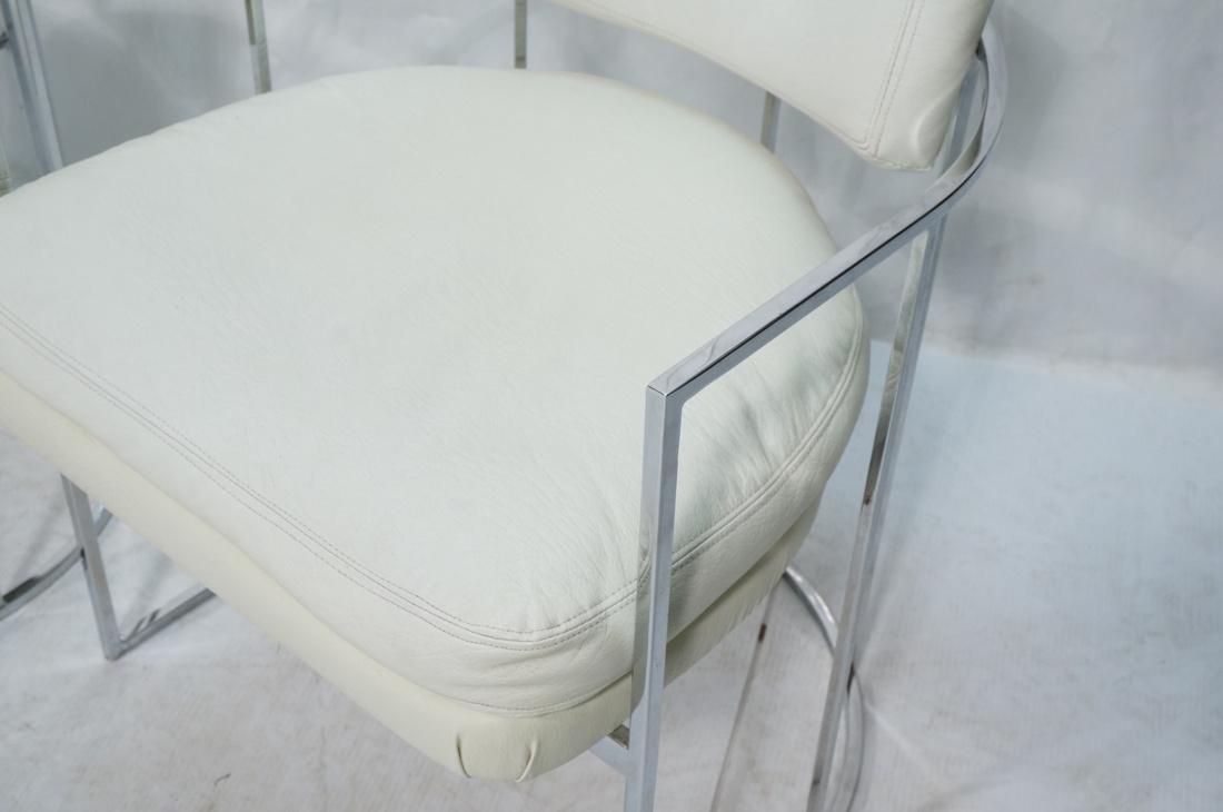 Pr MILO BAUGHMAN Thin Square Tube Side Chairs. Ba - 3
