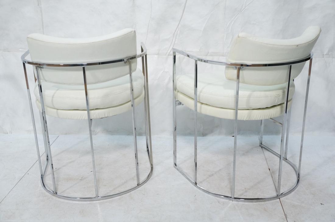 Pr MILO BAUGHMAN Thin Square Tube Side Chairs. Ba - 8