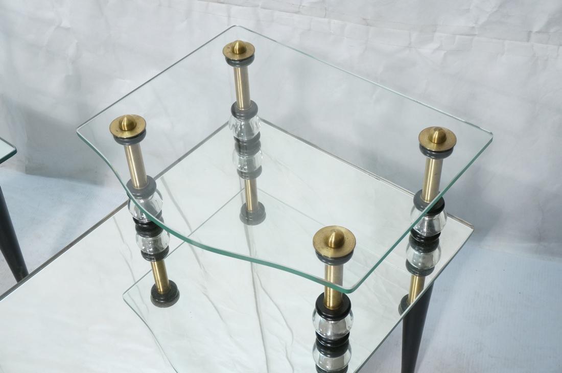 Pr Modern Wood Glass Mirrored Step Tables. Decora - 2