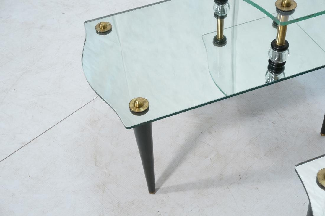 Pr Modern Wood Glass Mirrored Step Tables. Decora - 4