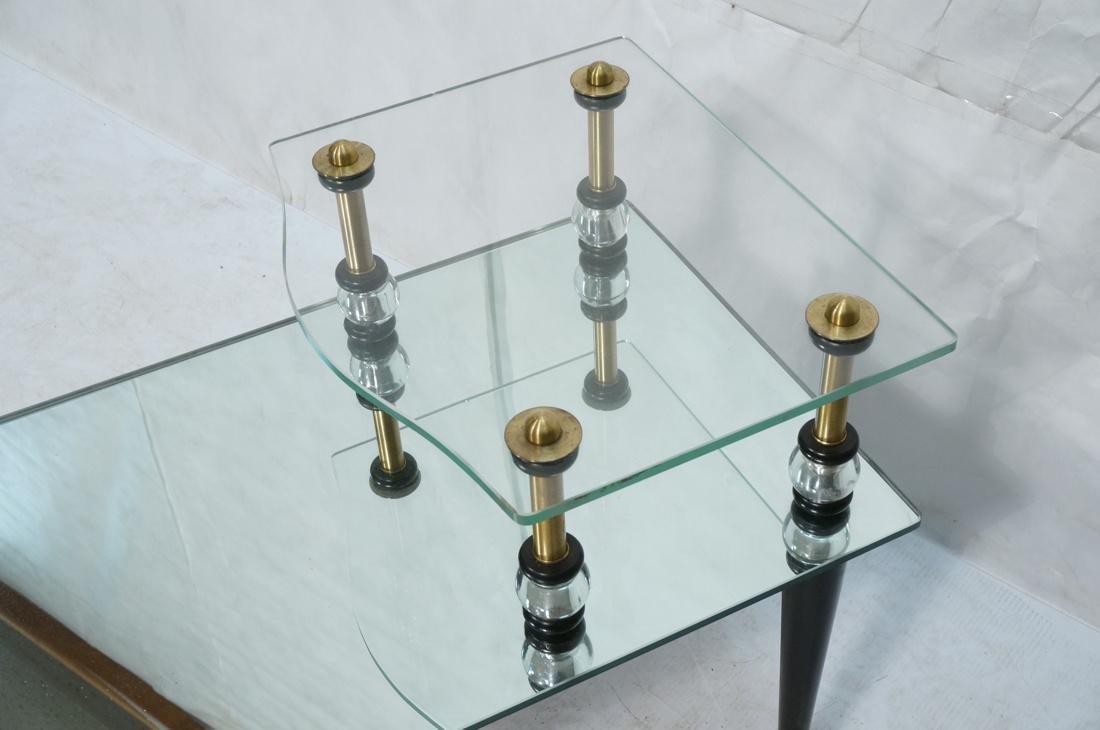 Pr Modern Wood Glass Mirrored Step Tables. Decora - 5