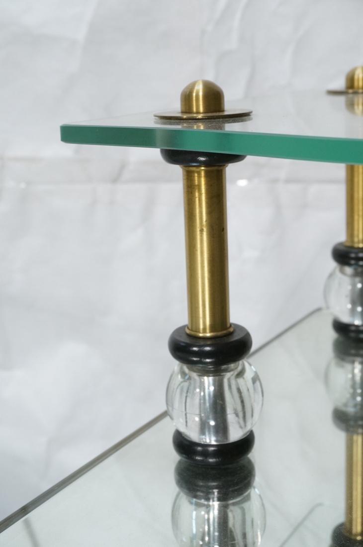Pr Modern Wood Glass Mirrored Step Tables. Decora - 6