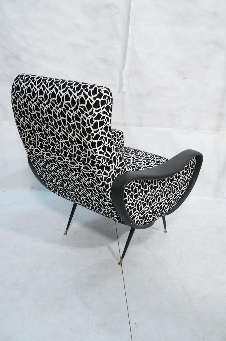 Pr Italian Upholstered Modernist Lounge Chairs. S - 10