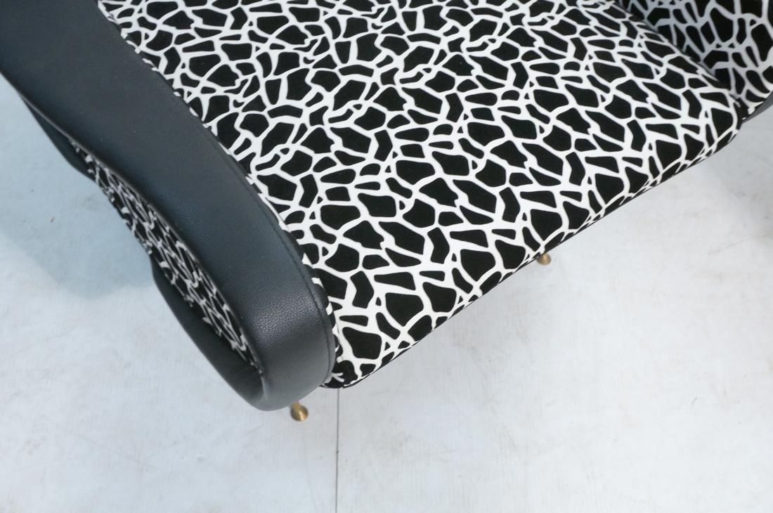 Pr Italian Upholstered Modernist Lounge Chairs. S - 6