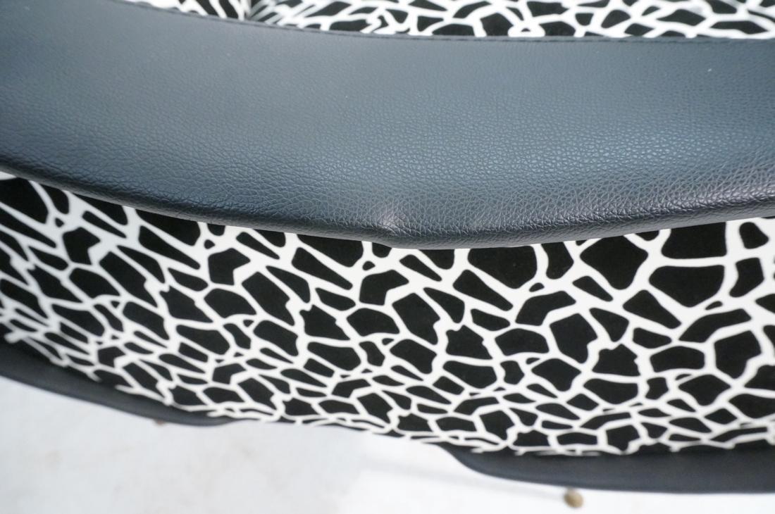 Pr Italian Upholstered Modernist Lounge Chairs. S - 8