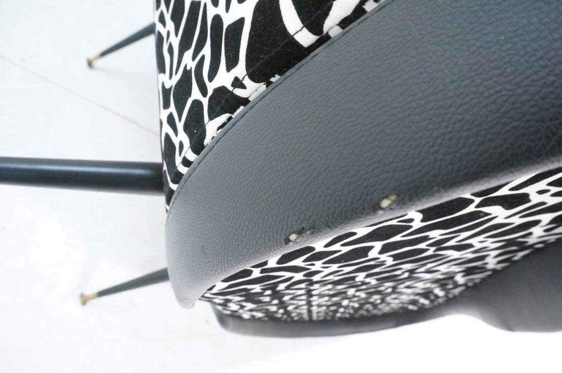 Pr Italian Upholstered Modernist Lounge Chairs. S - 9