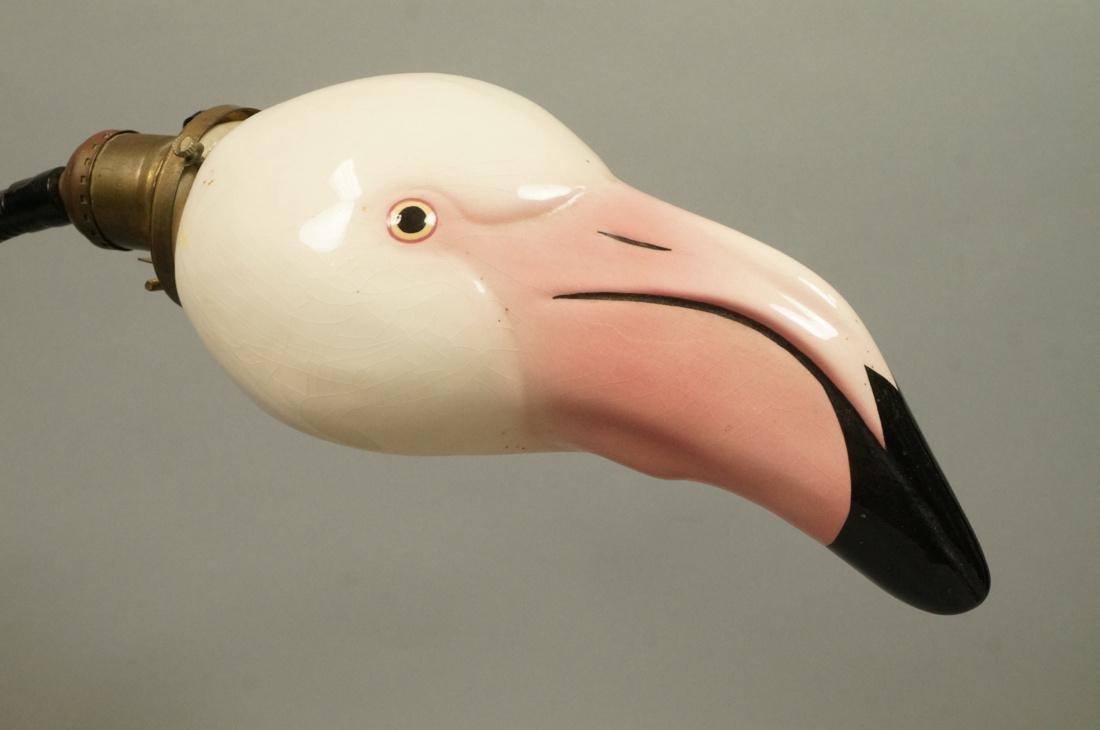 Ceramic Flamingo Head Modernist Gooseneck Lamp. B - 2