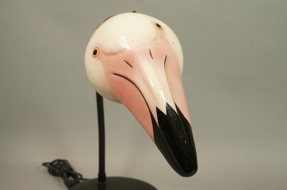 Ceramic Flamingo Head Modernist Gooseneck Lamp. B - 4