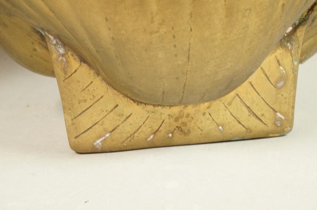 "2 Pc Decorator Brass Lot. Corseted ""X"" frame benc - 6"