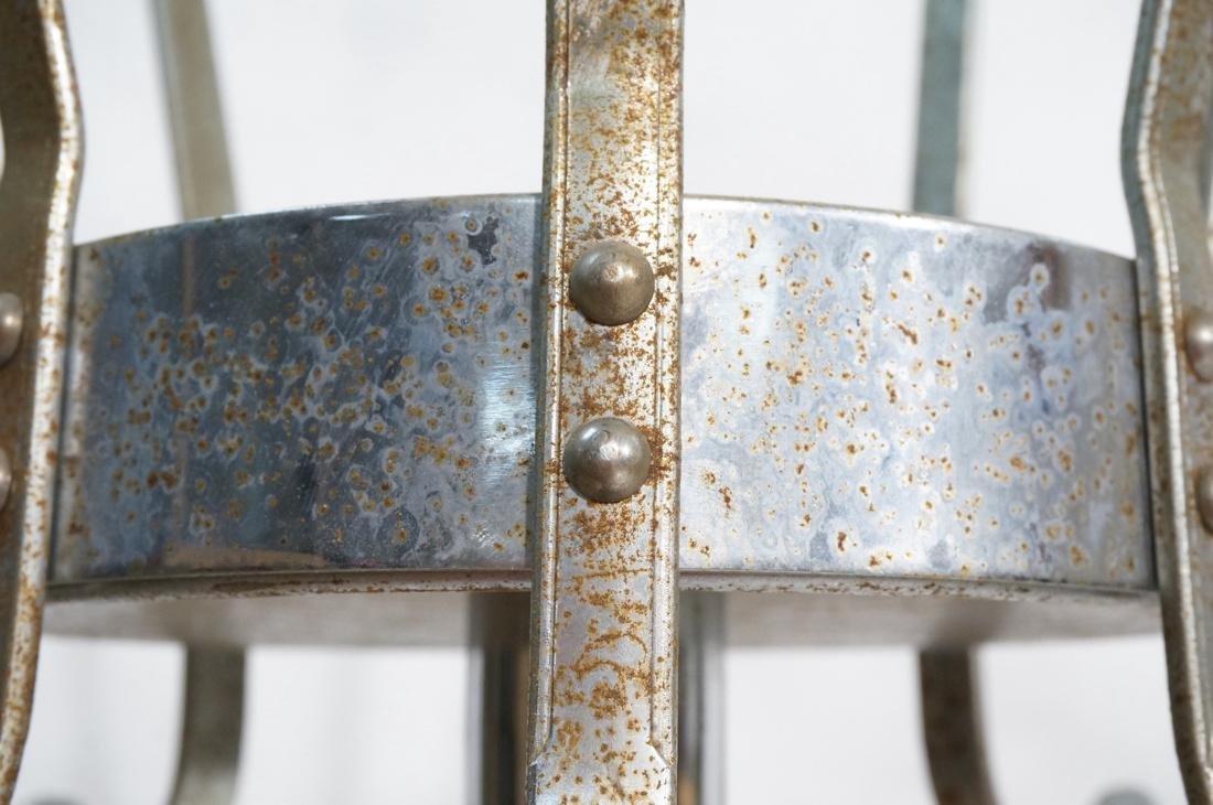 Industrial Art Deco Chrome Coat Hat Rack. Floor m - 5