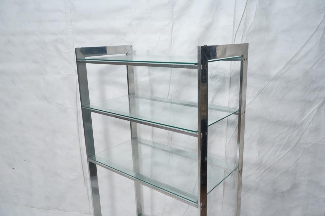 Stainless Glass Etagere Display Shelf Unit. 5 gla - 2