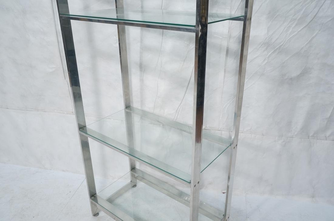 Stainless Glass Etagere Display Shelf Unit. 5 gla - 3