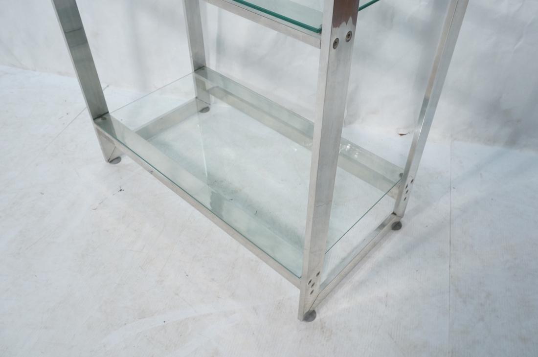 Stainless Glass Etagere Display Shelf Unit. 5 gla - 4