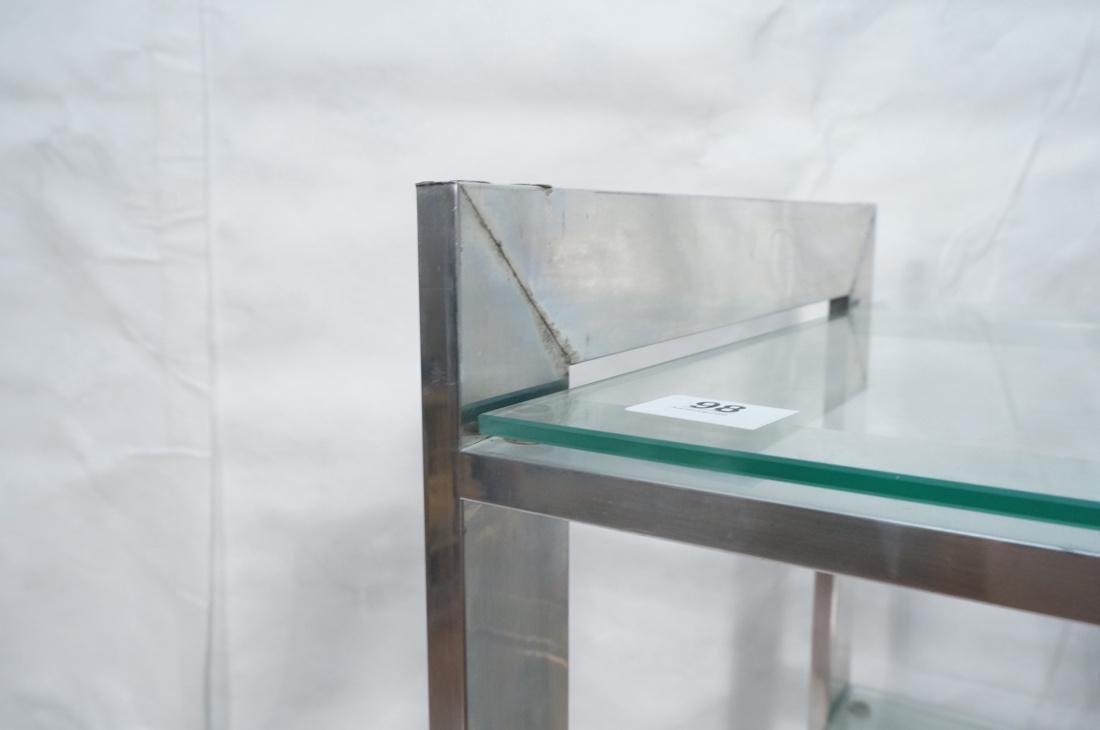 Stainless Glass Etagere Display Shelf Unit. 5 gla - 6