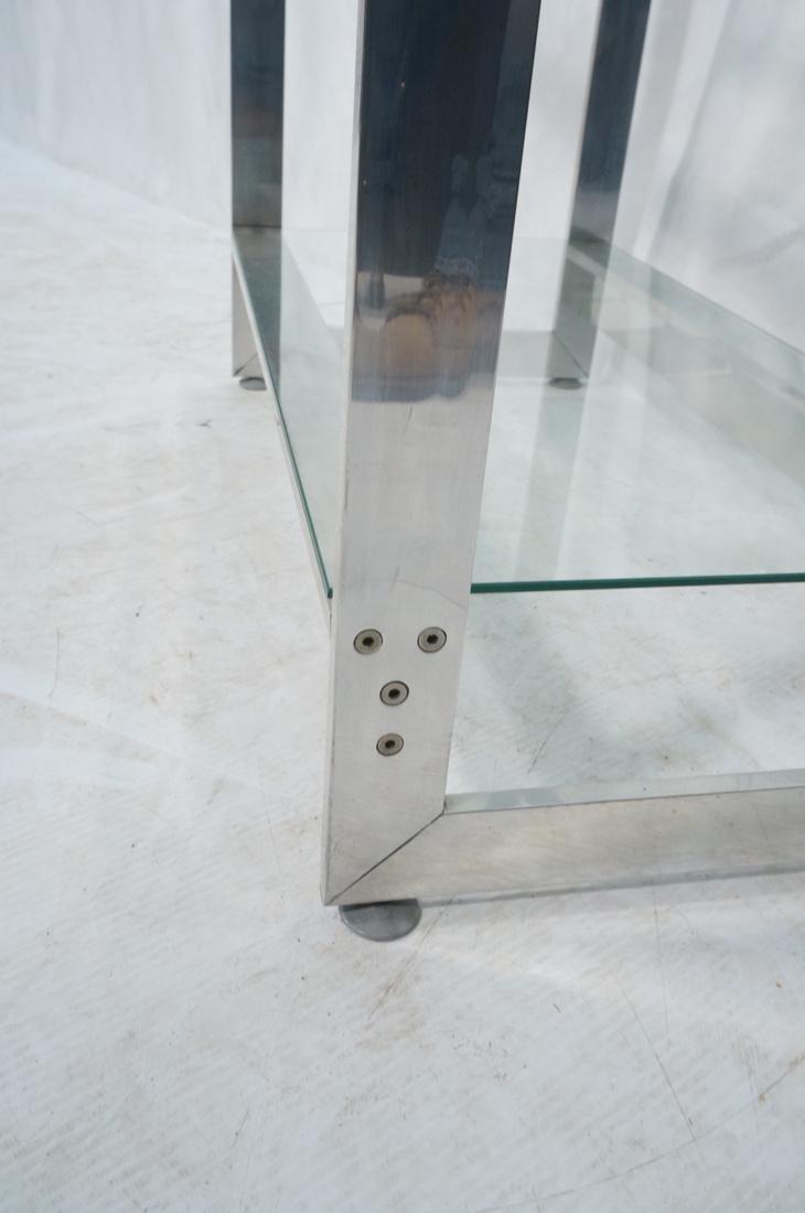 Stainless Glass Etagere Display Shelf Unit. 5 gla - 7