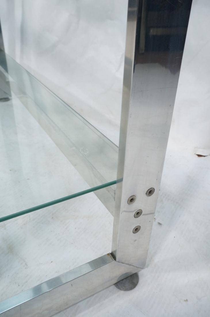 Stainless Glass Etagere Display Shelf Unit. 5 gla - 8