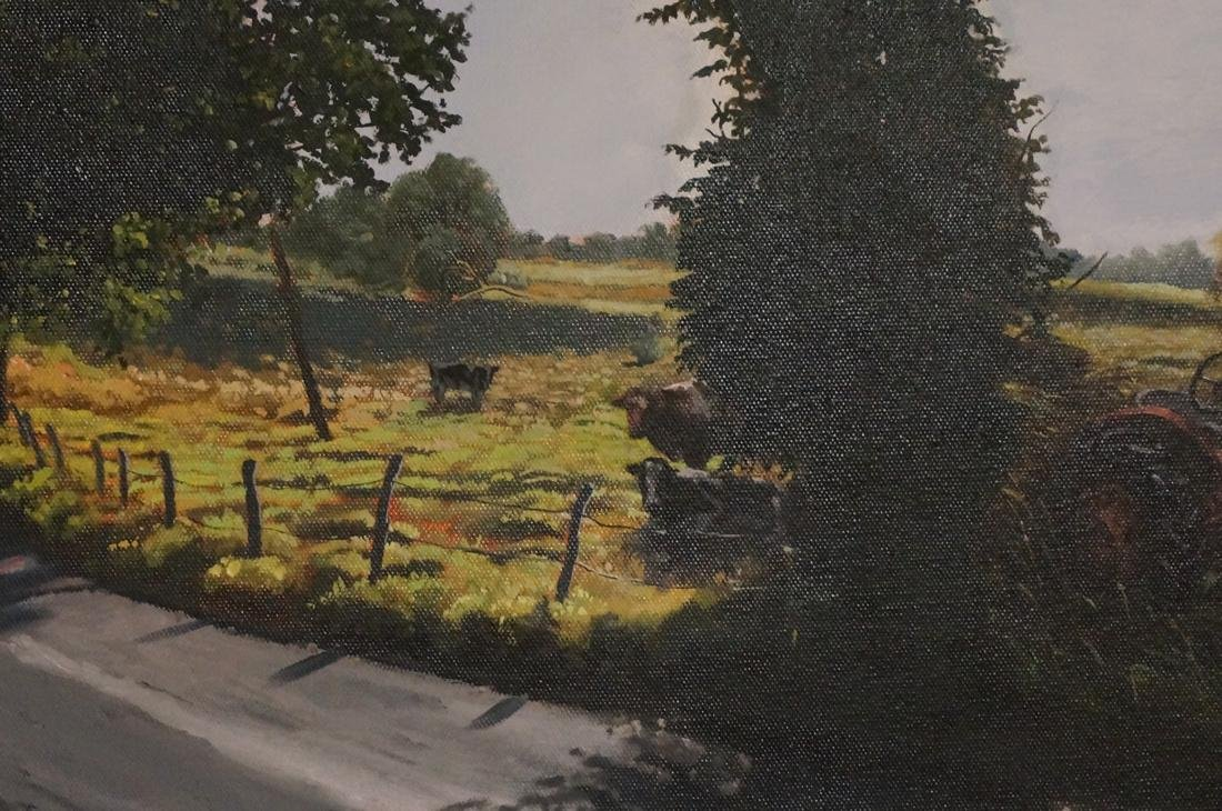 DEAN HARTUNG Late Afternoon Harvest Oil on Canvas - 5
