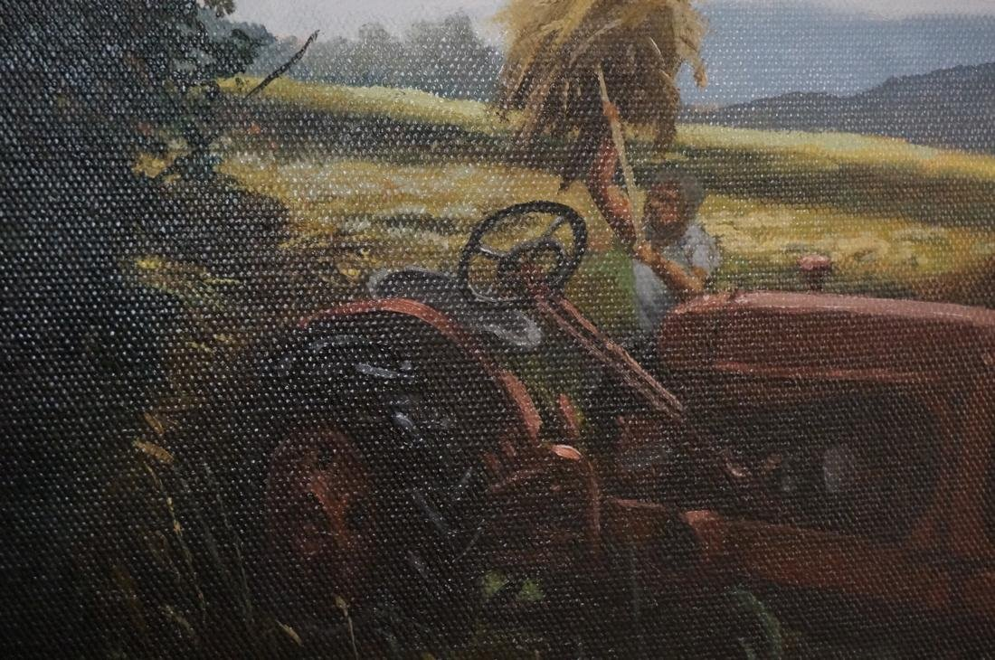 DEAN HARTUNG Late Afternoon Harvest Oil on Canvas - 7