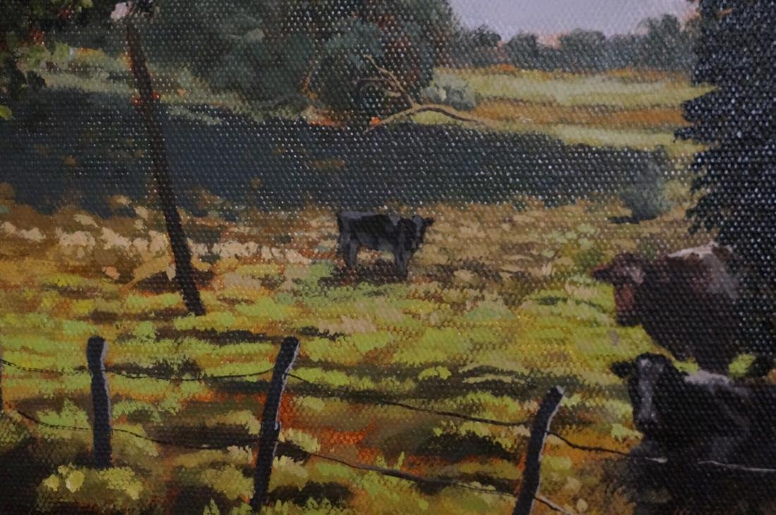 DEAN HARTUNG Late Afternoon Harvest Oil on Canvas - 8