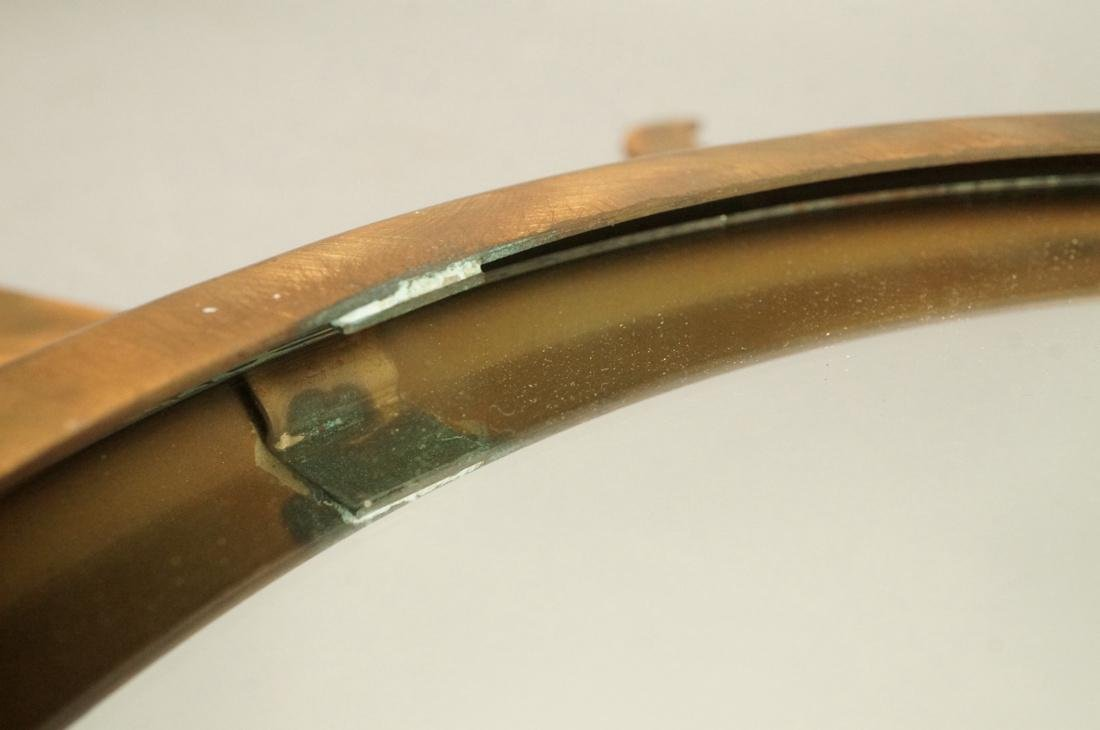 Pr NIERMANN WEEKS Bronze Copper Sunburst Wall Mir - 10