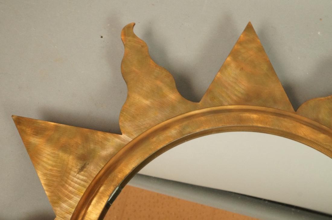 Pr NIERMANN WEEKS Bronze Copper Sunburst Wall Mir - 3