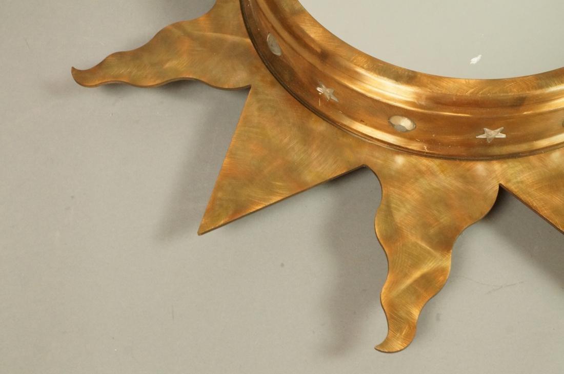 Pr NIERMANN WEEKS Bronze Copper Sunburst Wall Mir - 4