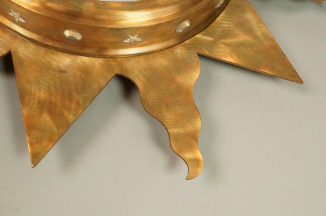 Pr NIERMANN WEEKS Bronze Copper Sunburst Wall Mir - 5