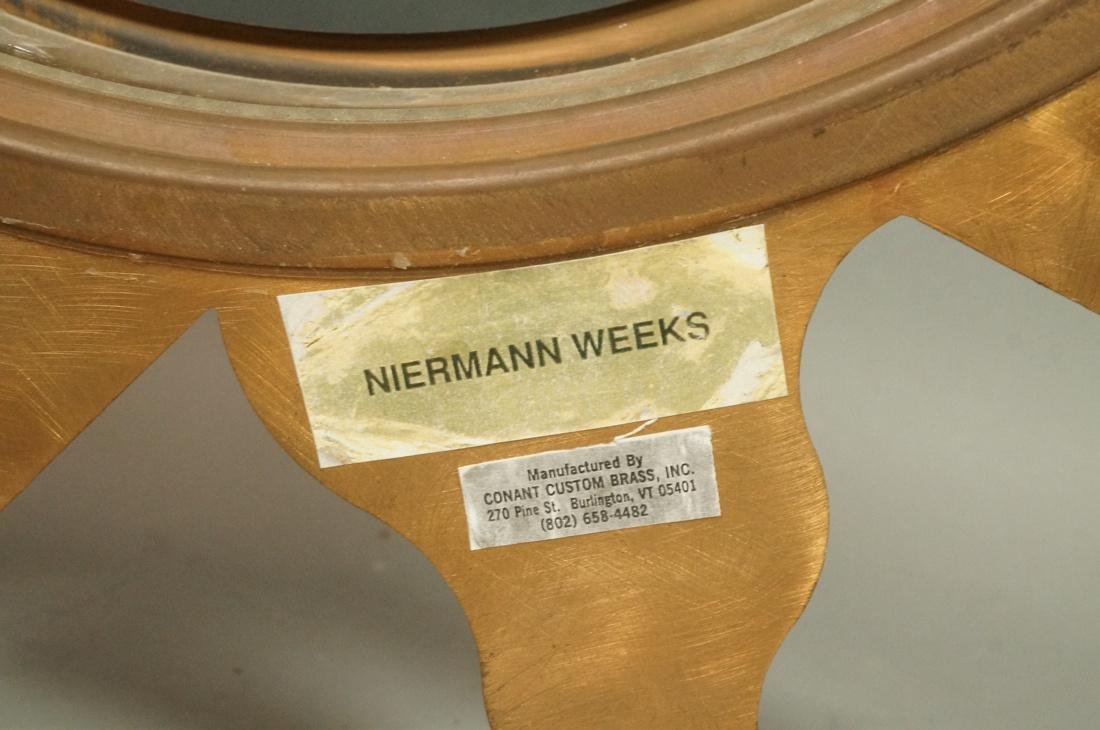 Pr NIERMANN WEEKS Bronze Copper Sunburst Wall Mir - 9