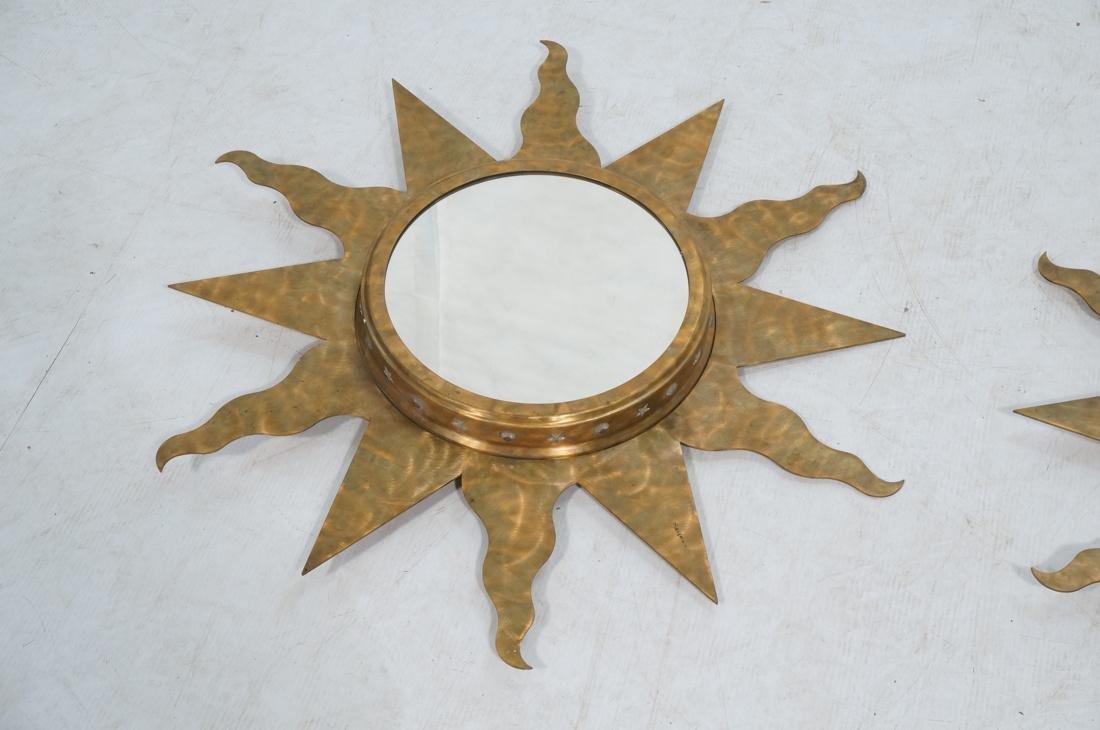 Pr NIERMANN WEEKS Bronze Copper Sun Wall Mirrors. - 2