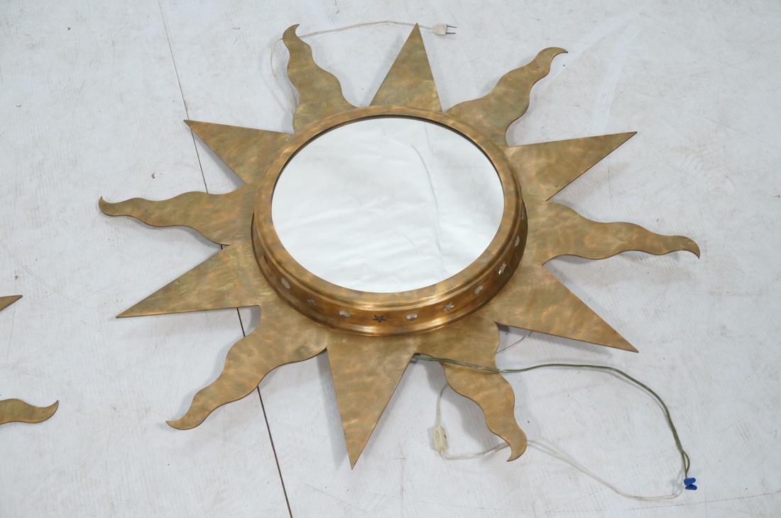 Pr NIERMANN WEEKS Bronze Copper Sun Wall Mirrors. - 3