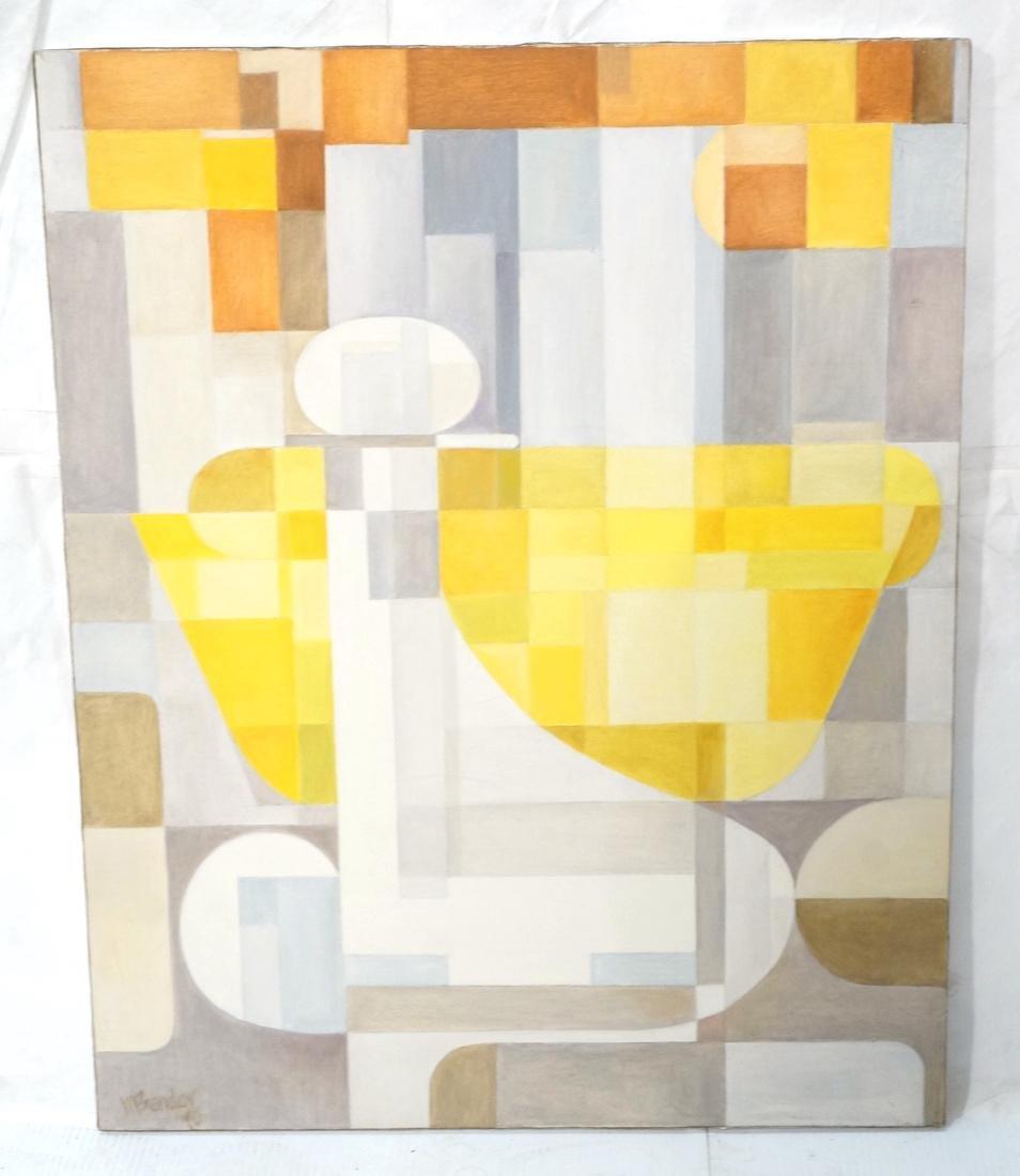 MAY BENDER Signed Oil Painting. Abstract Still Li