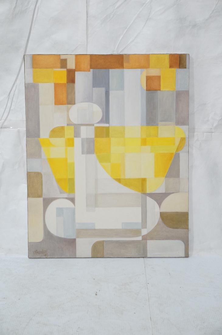 MAY BENDER Signed Oil Painting. Abstract Still Li - 2