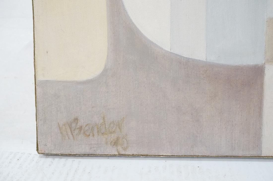 MAY BENDER Signed Oil Painting. Abstract Still Li - 5