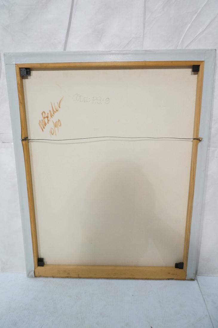 MAY BENDER Signed Oil Painting. Abstract Still Li - 8
