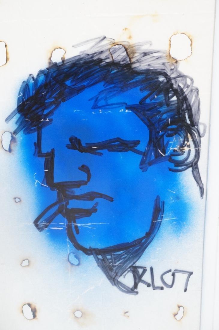 ROBERT LOUGHLIN Framed Self Portrait. Magic marke - 2