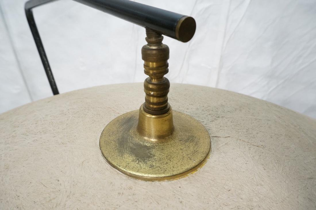 Modernist Brass & Black Floor Lamp. Painted doubl - 6