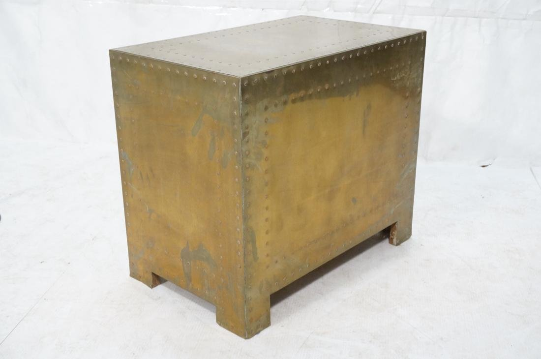SARREID Style Brass Campaign Chest. 3 drawers wit - 6