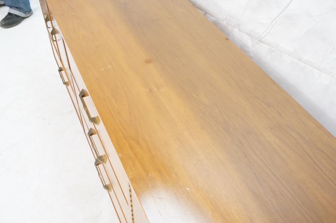 AMERICAN MODERN Walnut Credenza Sideboard. Unique - 5