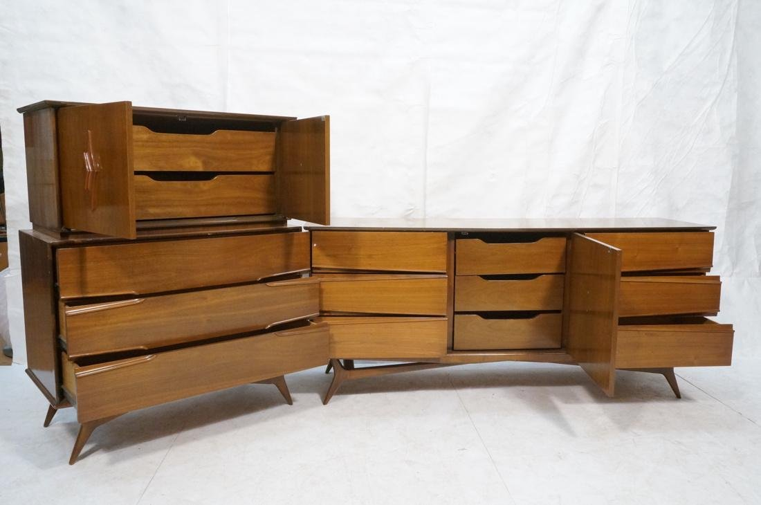 2 Pc AMERICAN MODERN Credenza and High Chest. Scu - 2