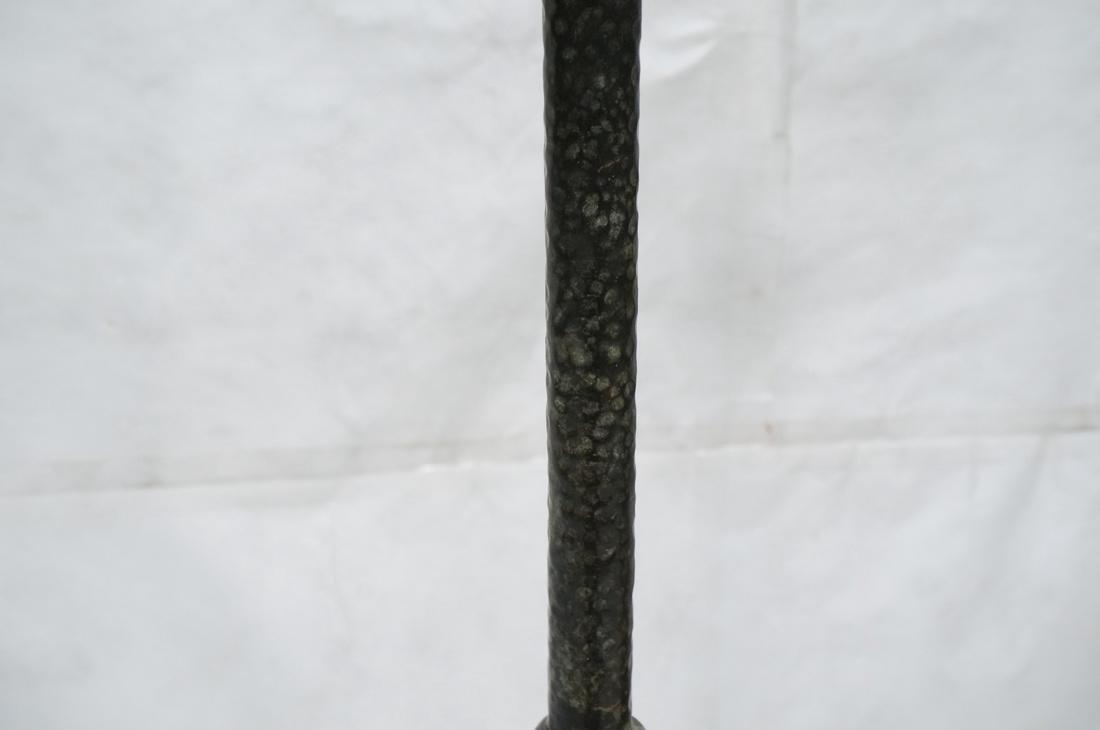 Hammered Metal Floor Lamp. Swollen base with upri - 3