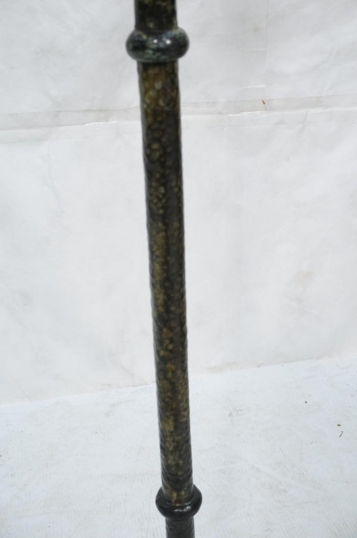 Hammered Metal Floor Lamp. Swollen base with upri - 4