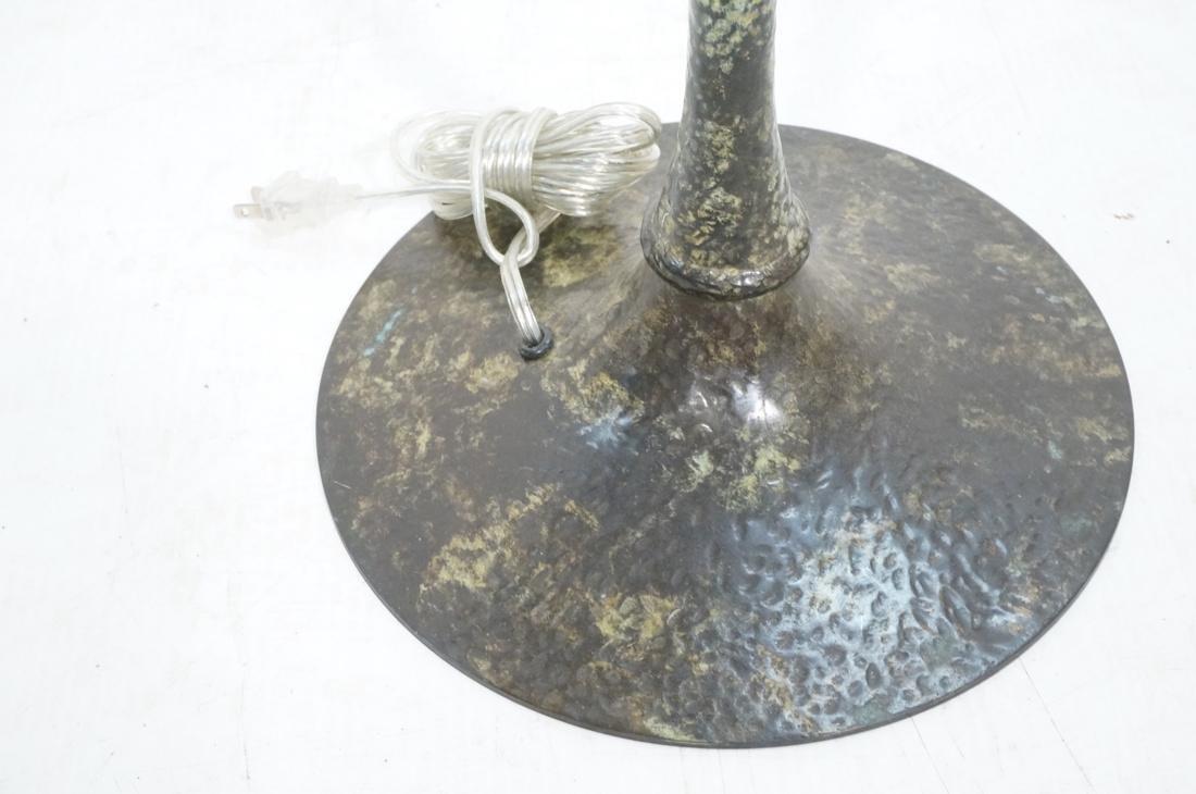 Hammered Metal Floor Lamp. Swollen base with upri - 5