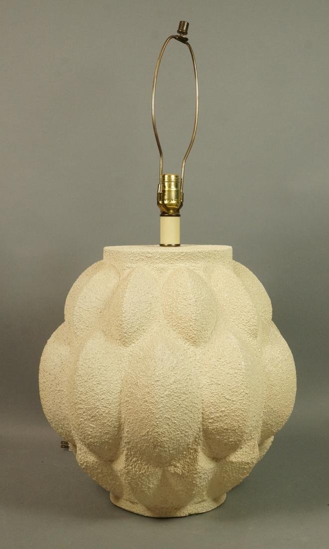 Modernist Large Artichoke Lamp. 3 dimensional tex