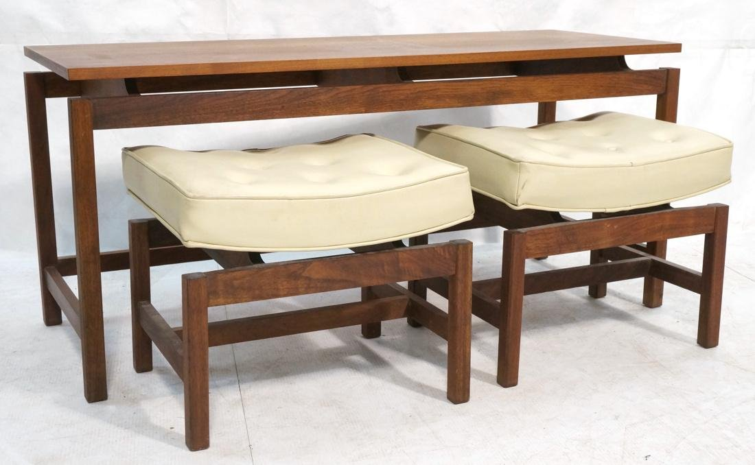 3 Pc JENS RISOM Style Low Hall Table Benches. Low