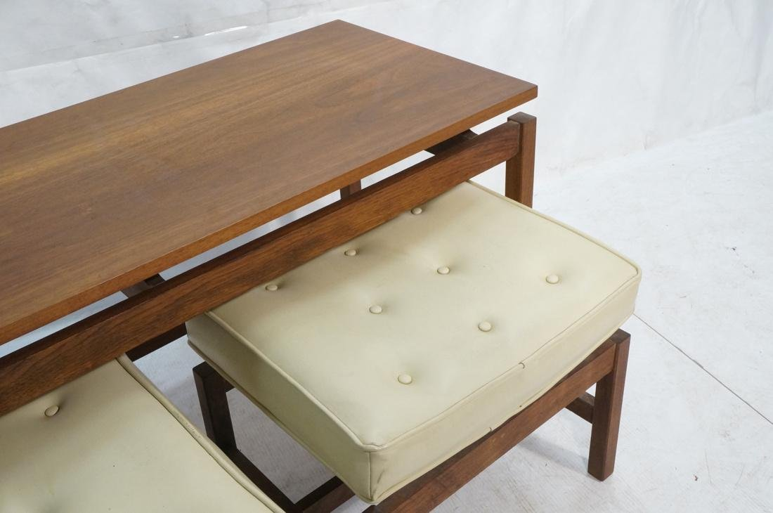 3 Pc JENS RISOM Style Low Hall Table Benches. Low - 3